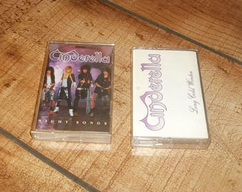 CINDERELLA Cassette Tape Set, Night Songs and Long Cold Winter,  Hard Heavy Metal for your Sony Walkman or Boombox