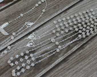 FAST SHIPPING!! Beautiful Sparkling Silver Wedding Lasso, Wedding Lasso, Wedding Unity Cord, 25th Anniversary, Wedding Gift, Wedding Cord