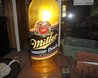 Vintage, Beer Light, MGD, Light Up Sign, Beer Sign, Man Cave, Bar Light, Beer Advertising, Bar Sign, Lighted Bottle, Gift For Him,