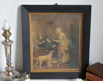 Stunning Georgian print in original frame