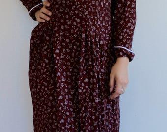 1980's Cowgirl Print Dress