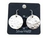 Vintage circle spoon earrings, silverware jewelry
