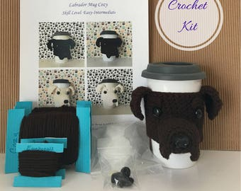 Amigurumi Kit - Crochet Pattern Dog - Crochet Kit - Crochet Starter Kit - Crochet Gifts - Crochet Dog Pattern - Dog Crochet Pattern - Lab