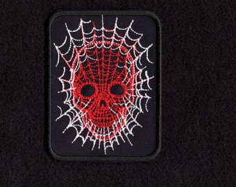skull web face patch Iron to Sew on Badge