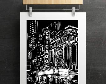 Chicago Theater Print