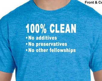 NA - 100% Clean - T-shirt - Color Options - S-5X - 100 cotton - Free Shipping - Narcotics Anonymous