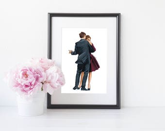 Valentines Day Gift Idea for her - fashion print - Spontaneous Romance