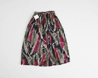 abstract print skirt   90s skirt   paint splatter skirt