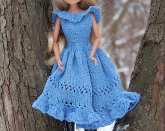 Handmade dress for Moxie Teenz Doll Clothing Doll 14 inch Clothes for Dolls Knitting dress for doll  doll dress Knit doll Knit doll clothes