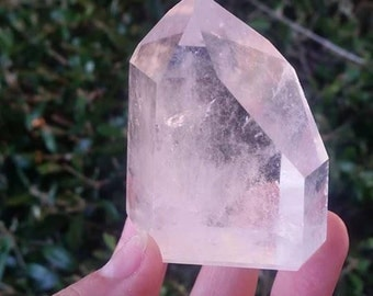 Large Brazilian Quartz Tower Generator ~Polished and Faceted ~Rainbows~Powerful~High Vibration~All Chakras~Cleansing~Altar~ Master Healer ~
