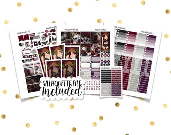 WICKED Weekly Kit // Printable Planner Stickers / Erin Condren Plum Paper Happy Planner Filofax Inkwell Press Fall Autumn Halloween October