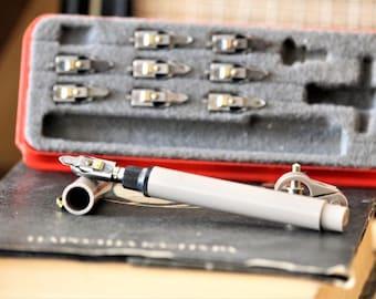 Ensemble Vintage Set - calligraphie des outils de rédaction - encre stylo Set - Markant plume et un stylo de la rédaction - outils d'ingénierie allemande - dessin technique