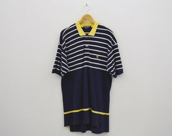 Nautica Shirt Men Size L 90s Nautica Striped Shirt Nautica Vintage Polo Shirt