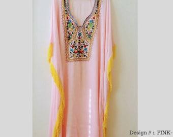 kaftan beach dresses long kaftan dress maxi dresses Embroidered kaftan caftan dress long white maxi dress in multiple colors