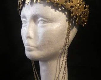 Puzzle Gold Crown Tiara One of A Kind