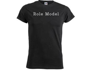 Role Model Mens Boys T Shirt Funny Quote Slogan Joken Novelty Top Trend Outfit