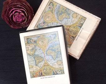 1970s World Map Bookplates /31 ready to stick on/Vintage World Map bookplates/Retro World Map Bookplates/Mad Man Style.