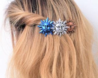 Sun Hair Barrette, Celestial French Barrette