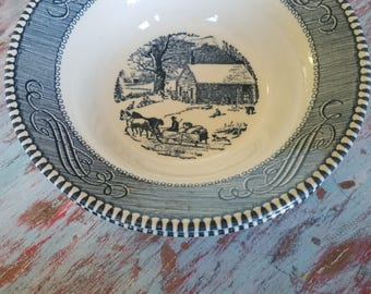 Currier & Ives  cereal  bowl.