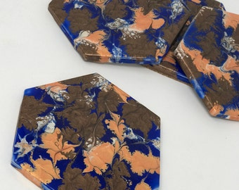 Tile coaster set - tile coaster gifts -  drink coaster ceramic - tile coasters - housewarming gift, wedding gift, gifts under 50