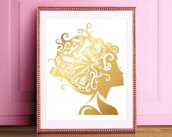 haar stylist geschenk haar kommode geschenk friseur geschenk haar salon dekor - Fantastisch Badezimmereinrichtung