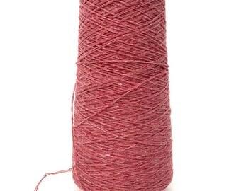 SAORI Yarn on Cone - Faded Pink Cotton - Unplied - Weaving Arts Austin