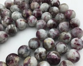 "Natural Eudialyte Smooth Round Gemstone Loose Beads Approx 15.5"" Long per Strand. GEM-171120-06"