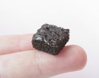 Brownie Charm, Polymer Clay Brownie, Miniature Food, Miniature Food Charms, Polymer Clay Food, Food Charms, Food Jewelry, Clay Brownie