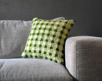 Grid Pillow cover - Green