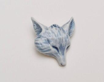 Fox Brooch // Porcelain Brooch // handmade Brooch