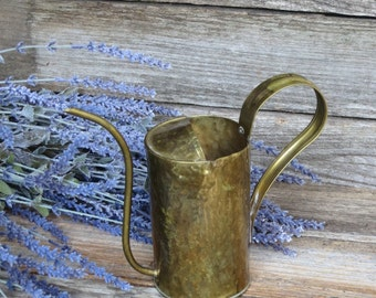Vintage Brass Watering Can, Vintage Watering Can, Mid-Century Indoor Watering, Gardening Tool,