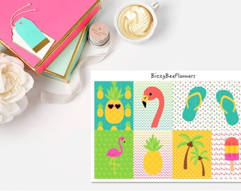 Tropical Fun Fullboxes- ECLP-Happy Planner