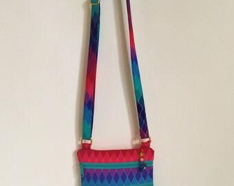 Small Crossbody Purse Japanese Color Cascade Diamond Cross Body Bag
