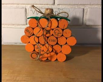 Fall Decor-Wine Cork Pumpkin