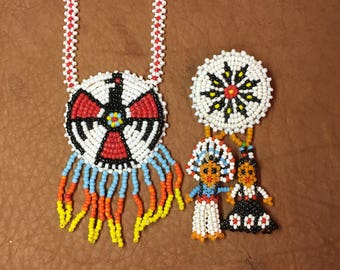 Native American Style Necklace and Pin
