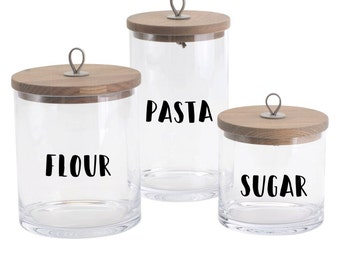 DIY Pantry Labels - Pantry organisation - Kitchen accessories - Kitchen/ pantry jar & container labels - Pantry accessories