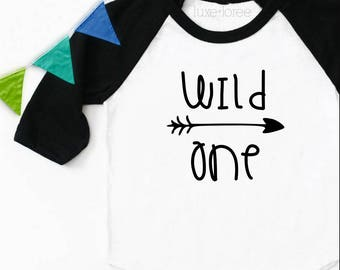 Wild One Birthday, Birthday Outfit, First Birthday, Wild One, Birthday Shirt, Boy Birthday, Where The Wild Things Are Raglan Baseball Tee