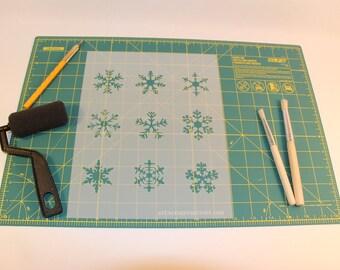 Snowflake Stencil - Reusable DIY Craft Stencils of Snowflakes