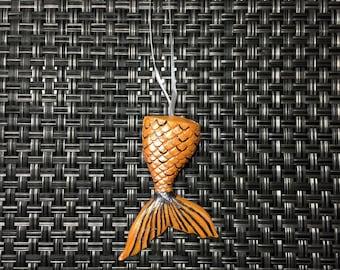 Handmade Clay Mermaid Tail Christmas Ornament