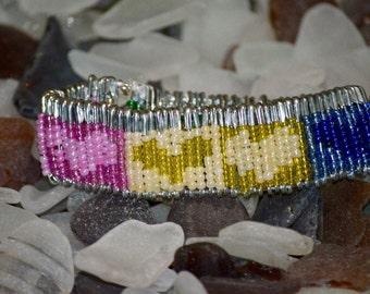 Safety Pin Heart Bracelet