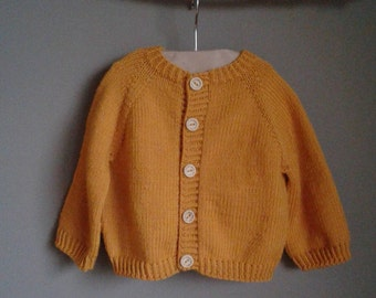 100% Extrafine Merino Wool Handknitted Baby Cardigan / Baby Jacket / Baby Coat / Baby Sweater / Baby Pullover / Hand knitted Baby
