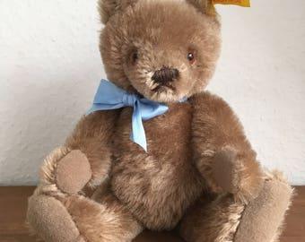 90s Vintage Steiff Shabby Small Teddy Bear Caramel