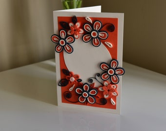 Quilling Greeting Card - Nautical - Handmade - Anniversary/Birthday/Mothers Day/Congratulations/Condolences/Quilled Card/Fourth of July