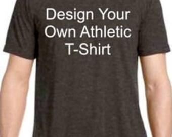 Custom T-Shirt | Custom Tee | Athletic T-Shirt | Athletic Tee | Custom Athletic T-Shirt | Custom Athletic Tee| Wicking | Similar to Dri-fit