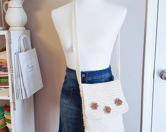 Crochet Shoulder Bag, Boho Purse, Crochet handbag