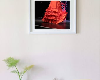 Photograph of a flamenco skirt. Seville, Spain.