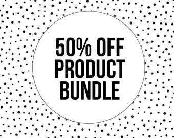 50% OFF PRODUCT BUNDLE - Grape Seed Oil - Sea Clay - Chamomile Flowers - Organic Rosemary Essential Oil - Teak Amber Perfume Oil - Vegan