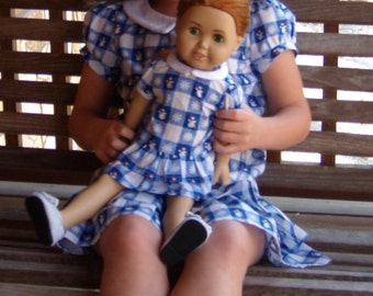 """On Sale-18"""" Doll Dress, (Ready To Ship and Free Shipping).  Doll and shoes are not included."""