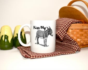 Funny Coffee Cup, Funny Mug,What we want to say, foul mouthed, kiss my ass, Coffee Cup, Best Gift
