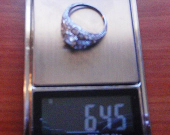 Sterling Silver 925 CUBIC ZIRCONIA antique art deco ring size 10  weight 6.44g